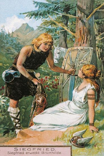 Siegfried and Brunnhilde, Characters from Siegfried by Richard Wagner--Giclee Print