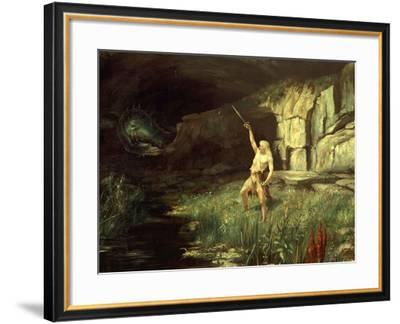 Siegfried, Hero of the Ring of the Nibelungen Opera Cycle by Richard Wagner, 1813-83-Hermann Hendrich-Framed Giclee Print