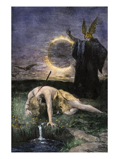 Siegfried, the Warrior Slain by Hagen in Germanic Legend--Giclee Print