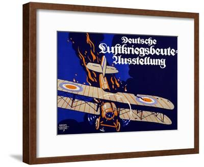 Poster Advertising the German Air War Booty Exhibition, 1918