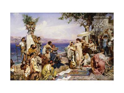 Phryne at the Festival of Poseidon, God of the Seas
