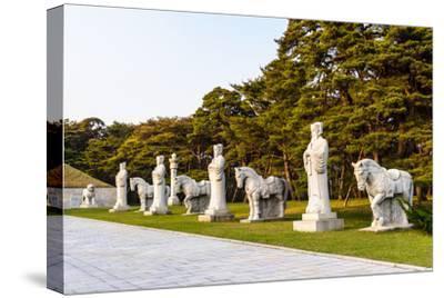 Statues on the Road to the Tombs of Ancient Koguryo Kingdom, Pyongyang, North Korea