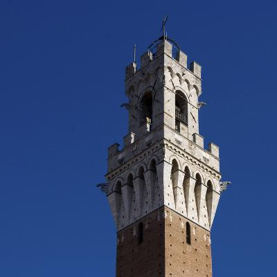 Siena Architectural Detail of Crenellated Tower-Mike Burton-Photographic Print