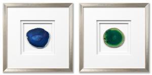 Siena Framed Agate Blue Set