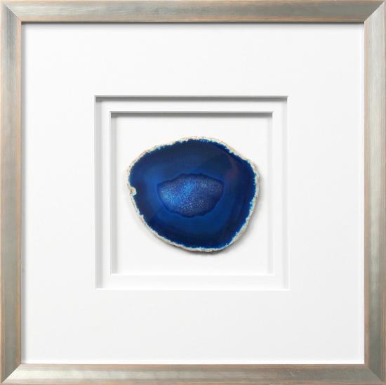 Siena Framed Agate - Blue--Alternative Wall Decor