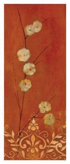 Sienna Flowers I-Fernando Leal-Art Print