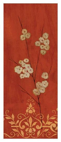 Sienna Flowers II-Fernando Leal-Art Print