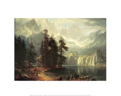 Sierra Nevada in California-Albert Bierstadt-Art Print