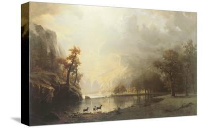 Sierra Nevada Morning-Albert Bierstadt-Stretched Canvas Print