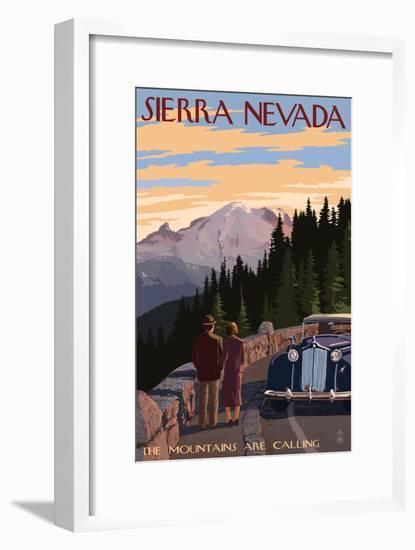 Sierra Nevada - the Mountains are Calling-Lantern Press-Framed Art Print