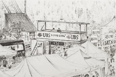 Sierre to Zinal Mountain Race, the Finish 2012-Vincent Booth-Giclee Print
