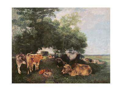 Siesta at Haymaking Time, 1868-Gustave Courbet-Giclee Print