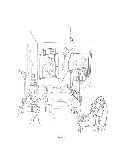 Siesta - New Yorker Cartoon-Saul Steinberg-Premium Giclee Print
