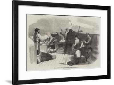 Siesta on Board the Steamer Between Malta and Alexandria--Framed Giclee Print