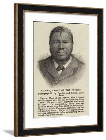 Sigcau, Chief of the Pondos--Framed Giclee Print