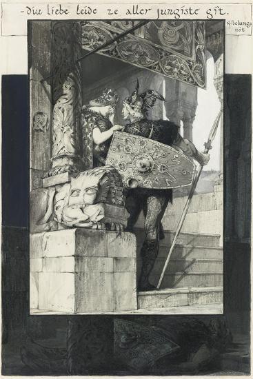Sigfried and Kriemhild-Franz von Stuck-Giclee Print