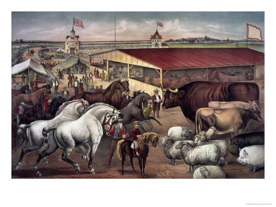 Sights at the Fair Ground-Currier & Ives-Giclee Print