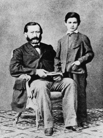 Sigmund Freud at the Age of Eight with His Father Jakob