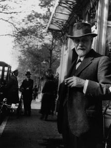 Sigmund Freud Holding a Cigar