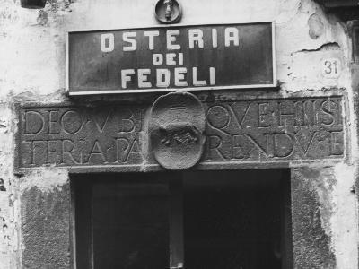 Sign for a Osteria-Vincenzo Balocchi-Photographic Print