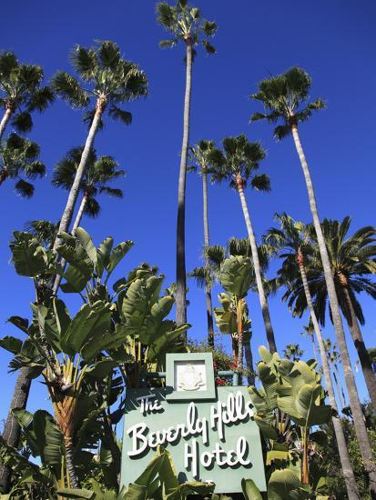 Sign for Beverly Hills Hotel, Beverly Hills, Los Angeles, California, Usa-Wendy Connett-Photographic Print