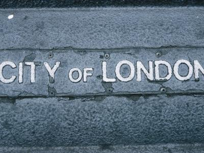 Sign for City of London, England--Photographic Print