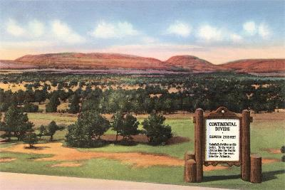 Sign for Continental Divide--Art Print