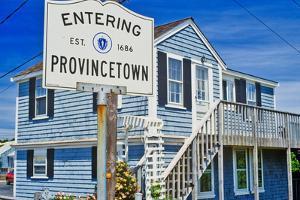 Sign for Provincetown, Massachusetts