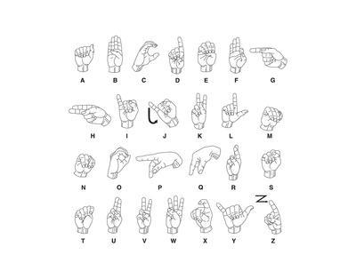 This is an image of Printable Sign Language Chart pertaining to beginner