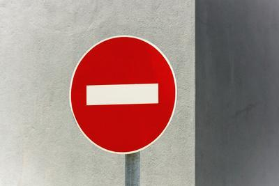 Sign, No Entry, One-Way Street-Catharina Lux-Photographic Print