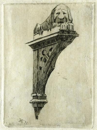 Sign of the Red Lion Inn, Glastonbury, Somerset, 1881-Edwin Edwards-Giclee Print