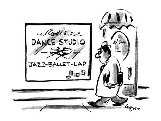 Sign on Dance stuio lists 'Jazz-Ballet-Lap' as what is taught. - New Yorker Cartoon-Lee Lorenz-Premium Giclee Print