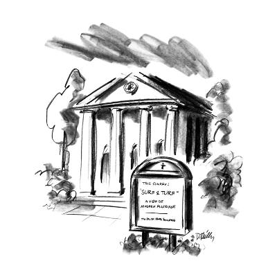 Sign outside church. - New Yorker Cartoon-Donald Reilly-Premium Giclee Print