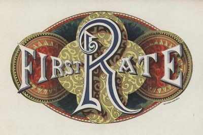 Sign Saying First Rate--Giclee Print