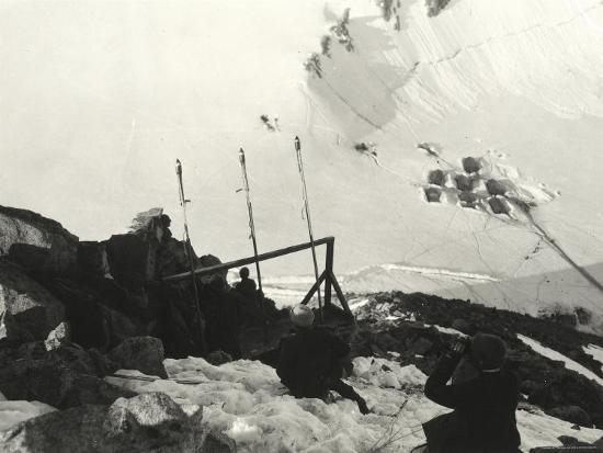 Signaling Section on Adamello During World War I--Photographic Print