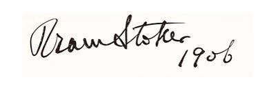 Signature of Bram Stoker, 1906