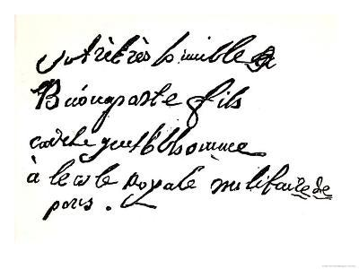 """Signature of Napoleon Bonaparte from 1785, from """"Napoleon"""" by Armand Dayot, Paris, 1895--Giclee Print"""