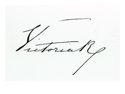 Signature of Queen Victoria--Giclee Print