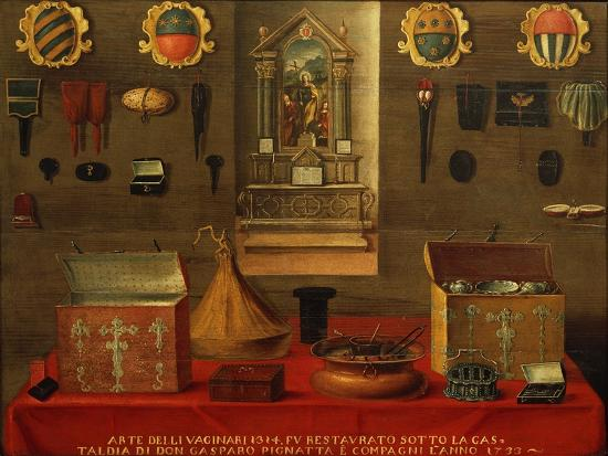 Signboard of Guild of Haberdashery in Venice, 1733, Italy, 18th Century--Giclee Print