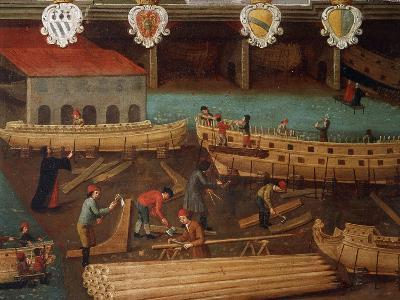 Signboard of Guild of Ship Carpentry in Arsenale of Venice--Giclee Print
