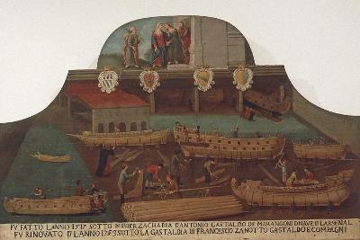 Signboard of the Guild of Ship Carpentry in the Arsenale of Venice--Giclee Print