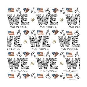 We the people. American patriotism. by Signe Wilkinson