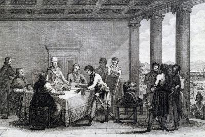 Signing of Peace of Tolentino Negotiated Between Napoleon and Pope Pius VI--Giclee Print