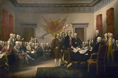 Signing the Declaration of Independence, July 4th, 1776-John Trumbull-Giclee Print