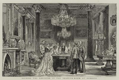 Signing the Register in the Drawing-Room at Osborne--Giclee Print