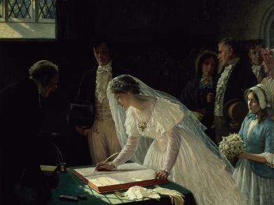 Signing the Register-Edmund Blair Leighton-Giclee Print