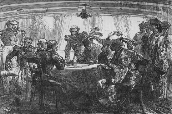 'Signing the Treaty of Nankin', c1880-Unknown-Giclee Print