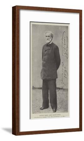 Signor Verdi, Aged Eighty-Four--Framed Giclee Print