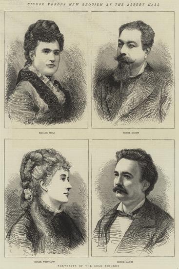 Signor Verdi's New Requiem at the Albert Hall--Giclee Print