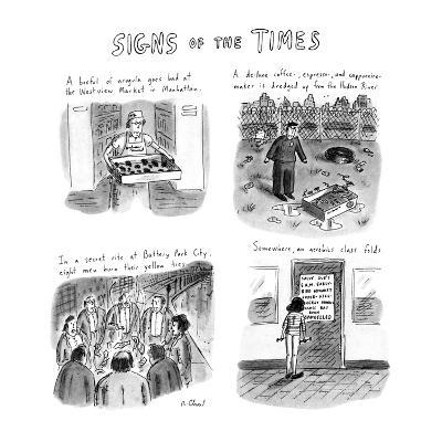 Signs of the Times: Title. - New Yorker Cartoon-Roz Chast-Premium Giclee Print